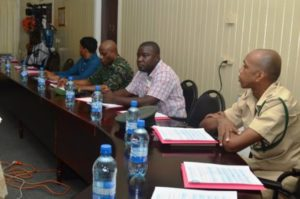 Participants at the Regional Disaster Risk Management System (RDRMS) event in Region Three